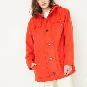 A New Day Orange Coat Jacket Hooded Warm XS-L